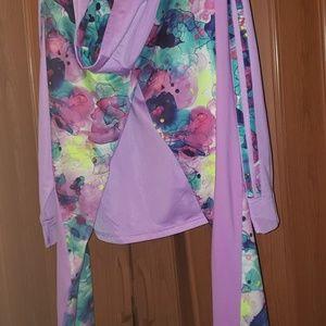 Girls addidas track suit